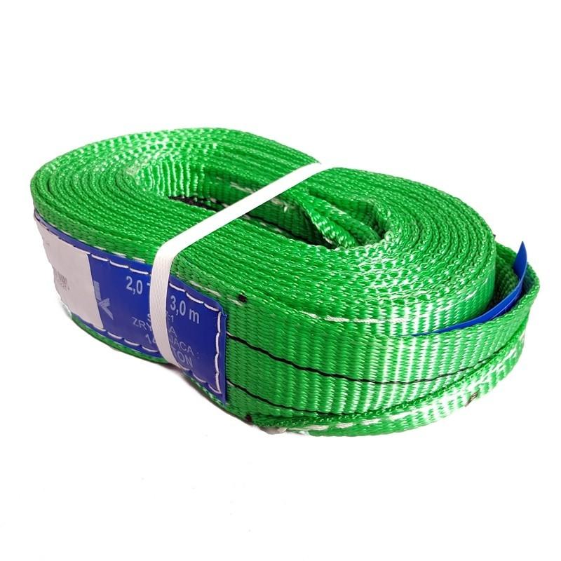 Zawiesie pasowe 2T, 3 m. zielone