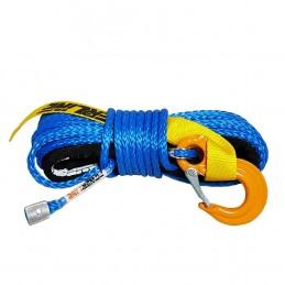 Lina syntetyczna 6 mm x 15 m, Blue z kauszą i hakiem, MBL 3T