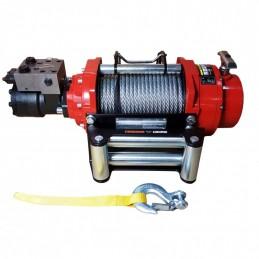 Wyciągarka hydrauliczna PWH8000 PRO EN14492-1 z liną stalową, hakiem i napinaczem