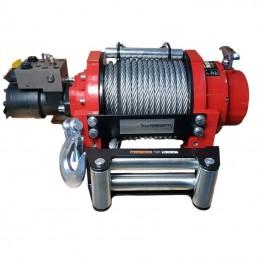 Wyciągarka hydrauliczna PWH15000 PRO EN14492-1 z liną stalową, hakiem i napinaczem