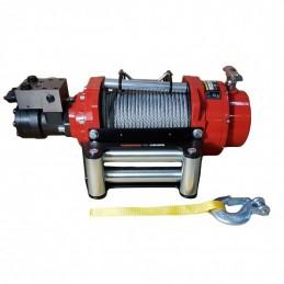 Wyciągarka hydrauliczna PWH10000 PRO EN14492-1 z liną stalową, hakiem i napinaczem