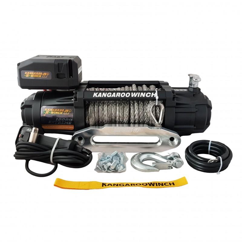 Kangaroowinch K12000 Extreme HD 12V z liną syntetyczną